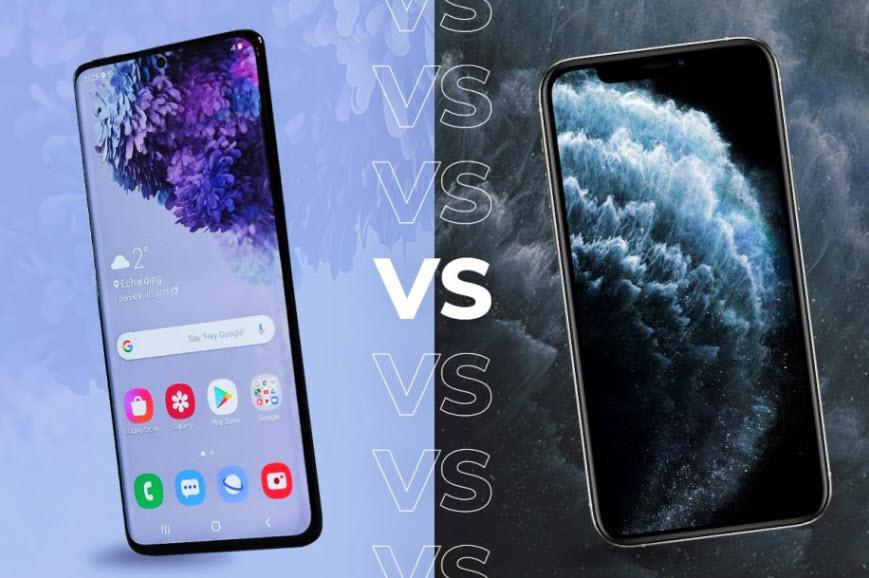 Apple iPhone 11 Pro vs Samsung Galaxy S20 Ultra