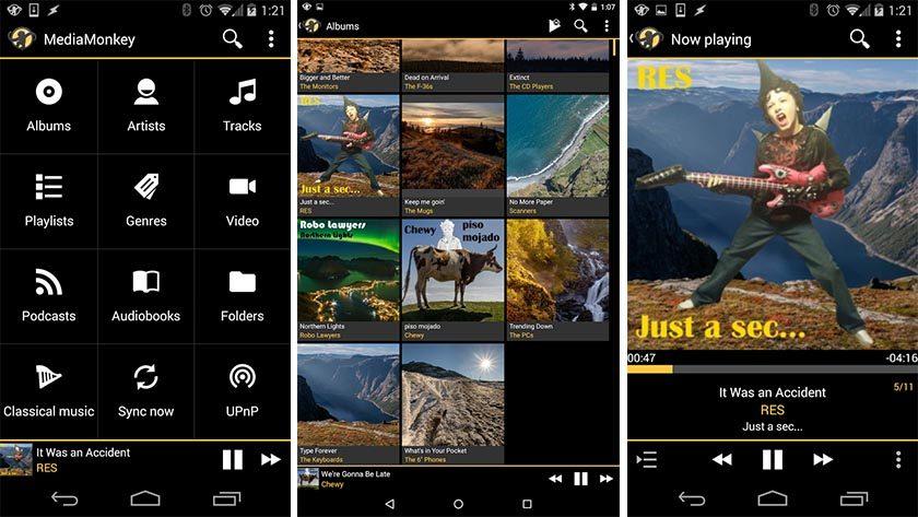 """mediamonkey paras musiikkisoitinsovellus Androidille """"leveys ="""" 840 """"korkeus ="""" 473"""