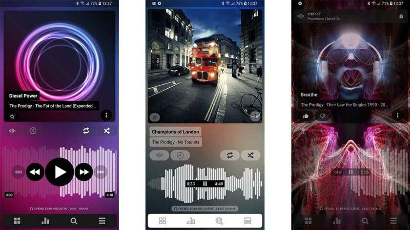 """Poweramp: paras musiikkisoittimen sovellus Androidille """"leveys ="""" 840 """"korkeus ="""" 472"""