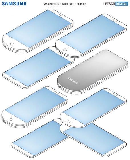 Samsungin kolminkertainen kamerapatentti