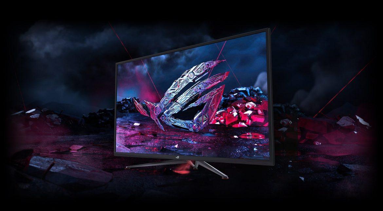Monitor Asus XG43 yang sangat besar dengan detail HDR spesifikasinya