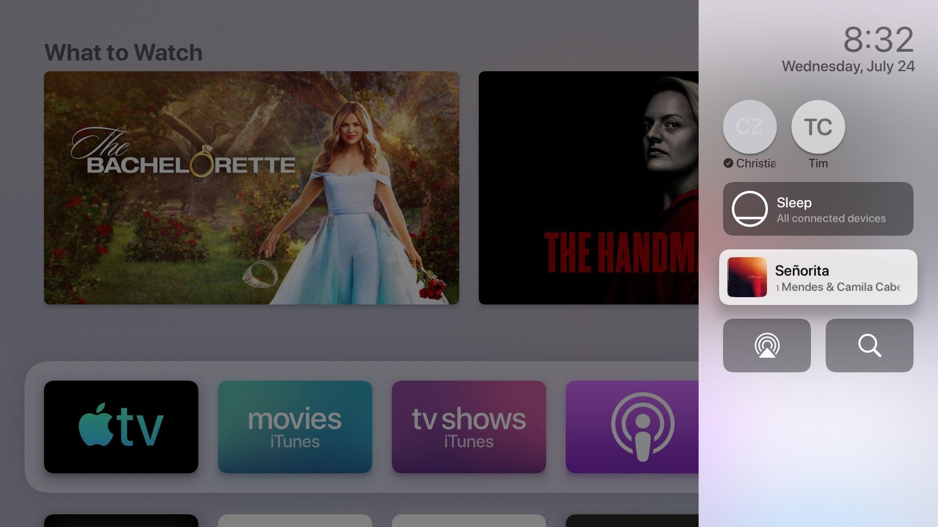Riadiace stredisko Apple televízia