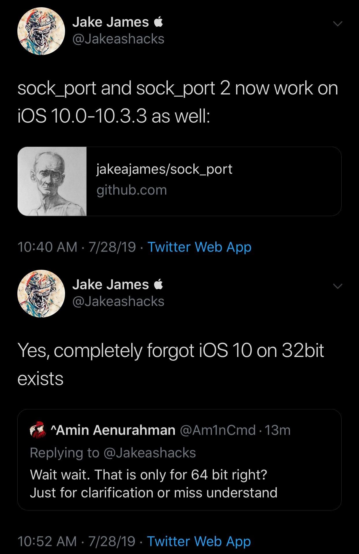 Jake James Sock Port və Sock Portun istismarlarını yenilədi 2 64 bit iOS 10 dəstəyi ilə 3
