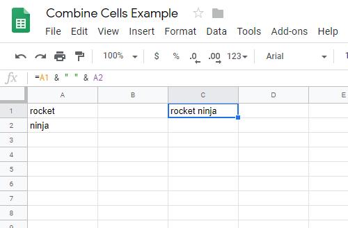 Cómo combinar celdas en hojas de cálculo de Google 5