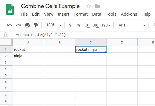 Cómo combinar celdas en hojas de cálculo de Google 4