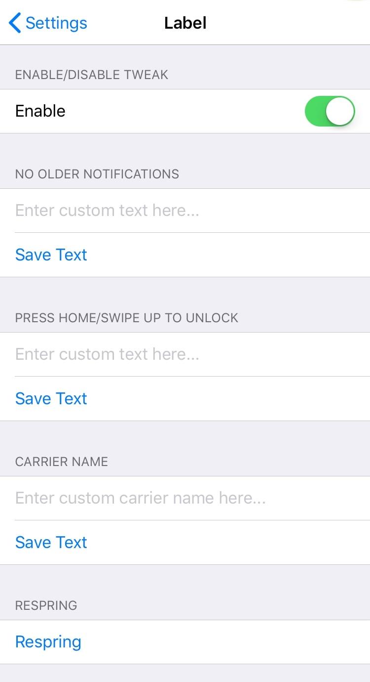 Personaliza varias cadenas de texto del sistema iOS con Label 3