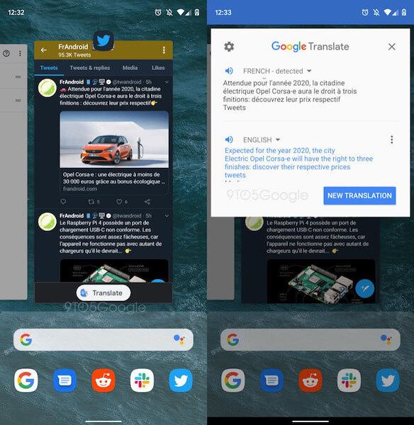Google Translate on funktio sistema Android Q: lla 1