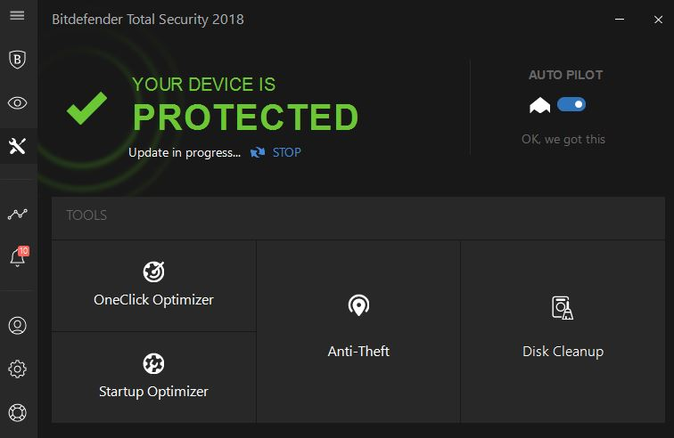 Optimalisasi keamanan total Bitdefender