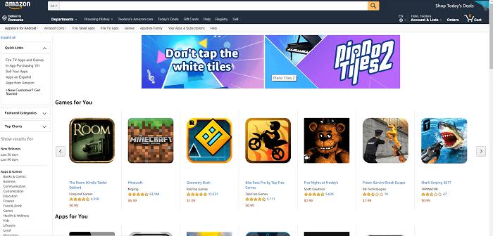 Amazon        App mağaza veb saytı