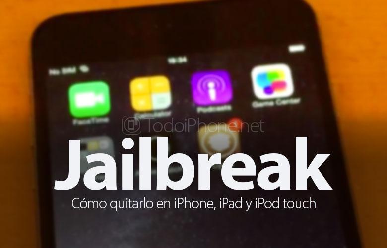 Cómo eliminar o eliminar Jailbreak de iPhone, iPad o iPod Touch 2
