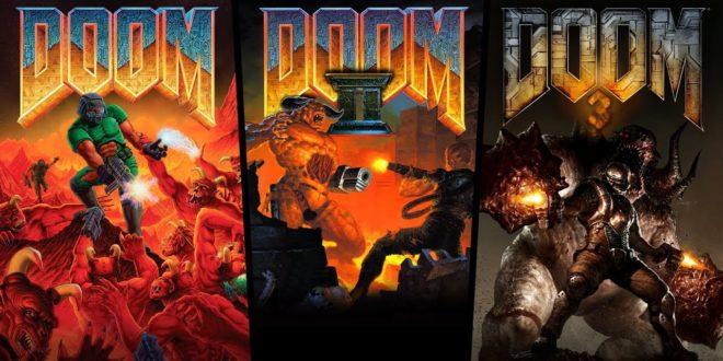 Doom (1993), Doom II (1994) və Qiyamət 3 (2004) PlayStation 4Xbox One-da Nintendo Switch və iOS və Android cihazları 1