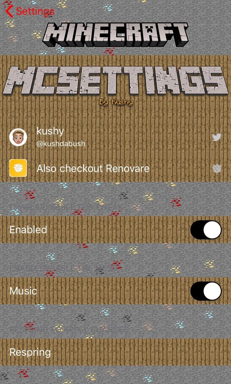 Minecraft'ı sevirsən? Bu parametr iPhone parametrləriniz tətbiqini daha çox oyuna bənzədir. 4