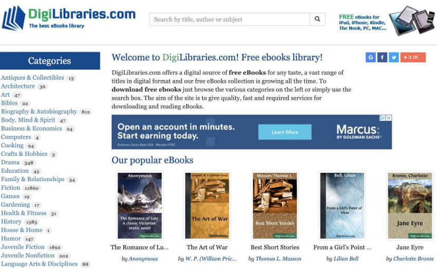 Situs Web Ebook DigiLibraries