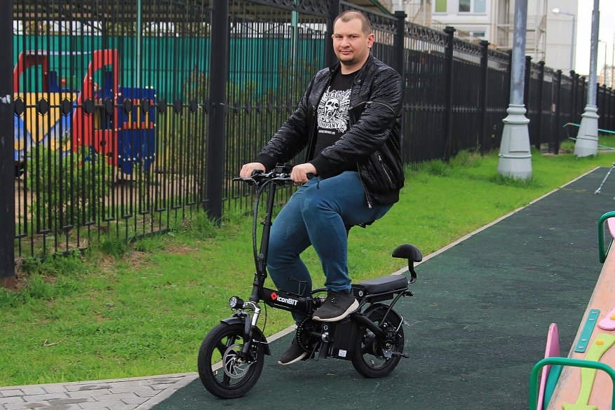 Sepeda listrik kota Iconbit E-Bike K202 18