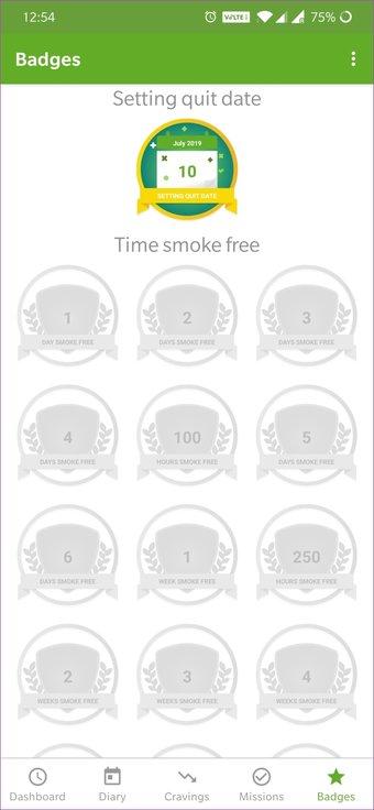 Aplicación para dejar de fumar 33