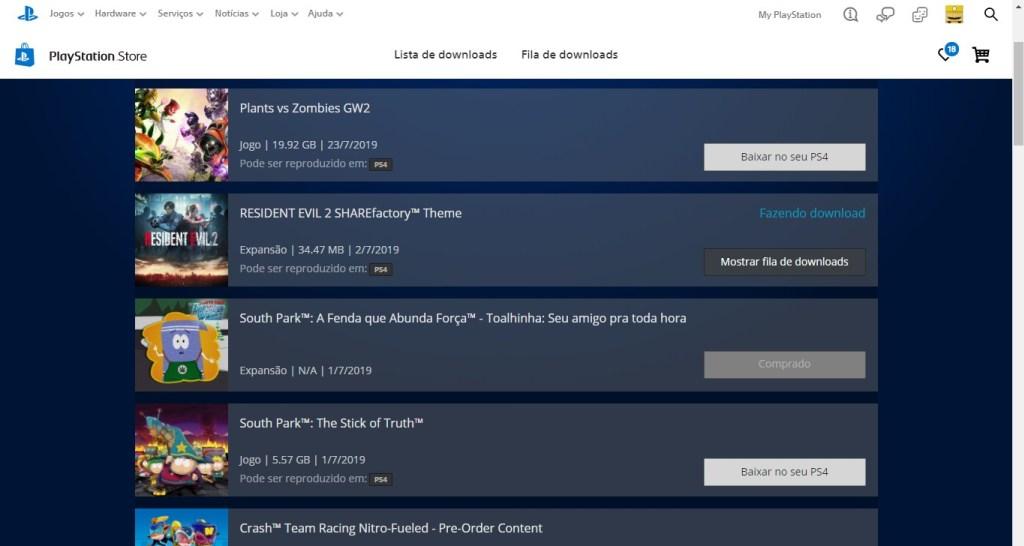 Bir kompüterdən PS4-ə yükləmək üçün bir oyun seçmək asandır.