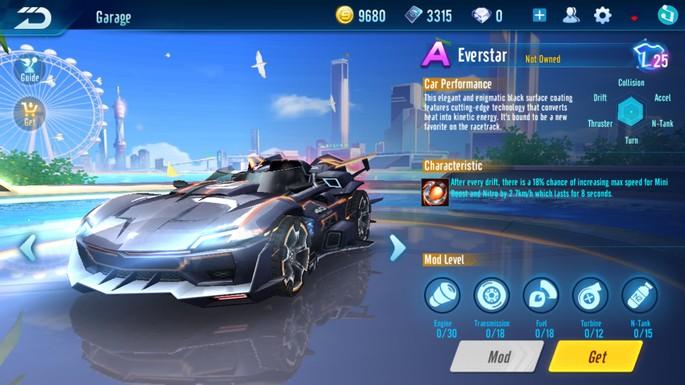 Sürət sürücüsü - A sinifi: Everstar