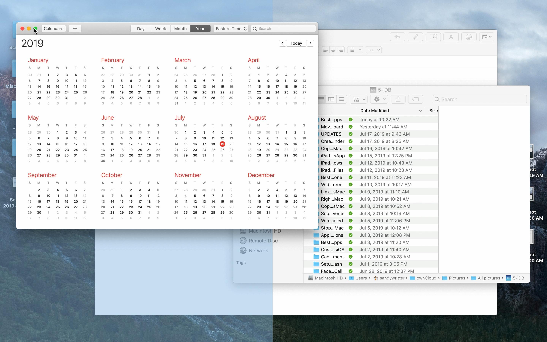 Geteilter Bildschirm für Mac-schattierte Bereiche