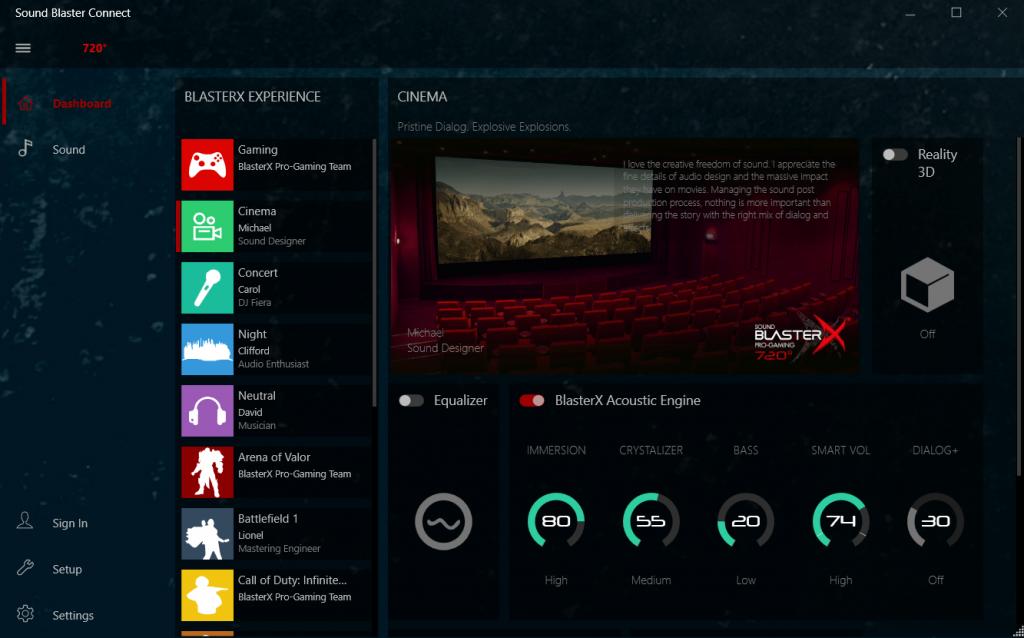 Alın sistema Realtek Mod Sürücü ilə Səs Sistemi - PC üçün Son Səs Modu 6