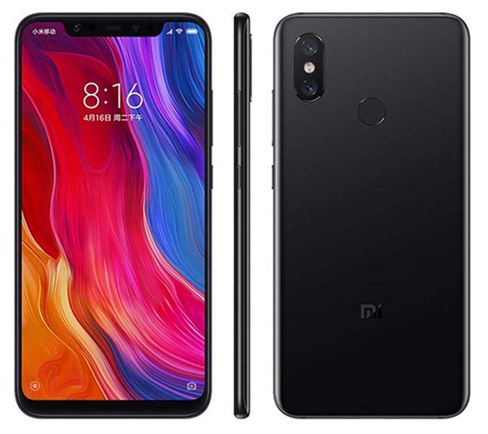 Bagian depan dan belakang Xiaomi Mi 8