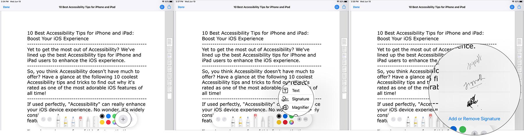 PDF fayllarına, sənədlərə iPadOS 13-də imza qoymaq üçün işarələmə tətbiq edin
