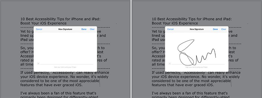 PDF fayllarını iPadOS 13-də qeyd işarəsi ilə imzalayın