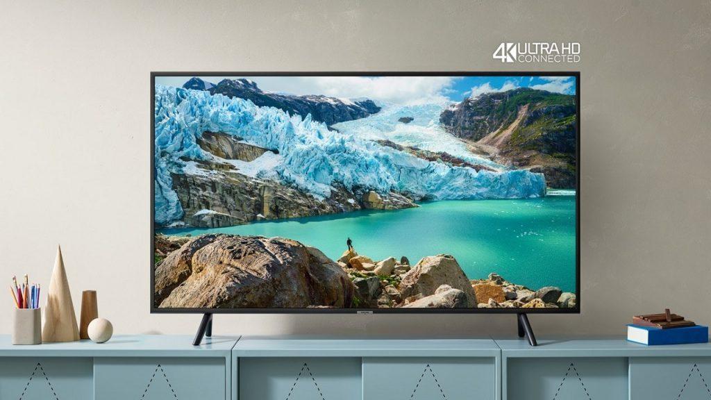 Kaufen Sie am Vatertag von Samsung den RU7100 4K UHD Smart TV und andere Markenprodukte.
