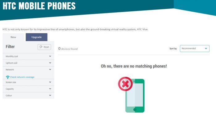 HTC, você se lembra deles? Agora você não pode comprar o celular dele. 2