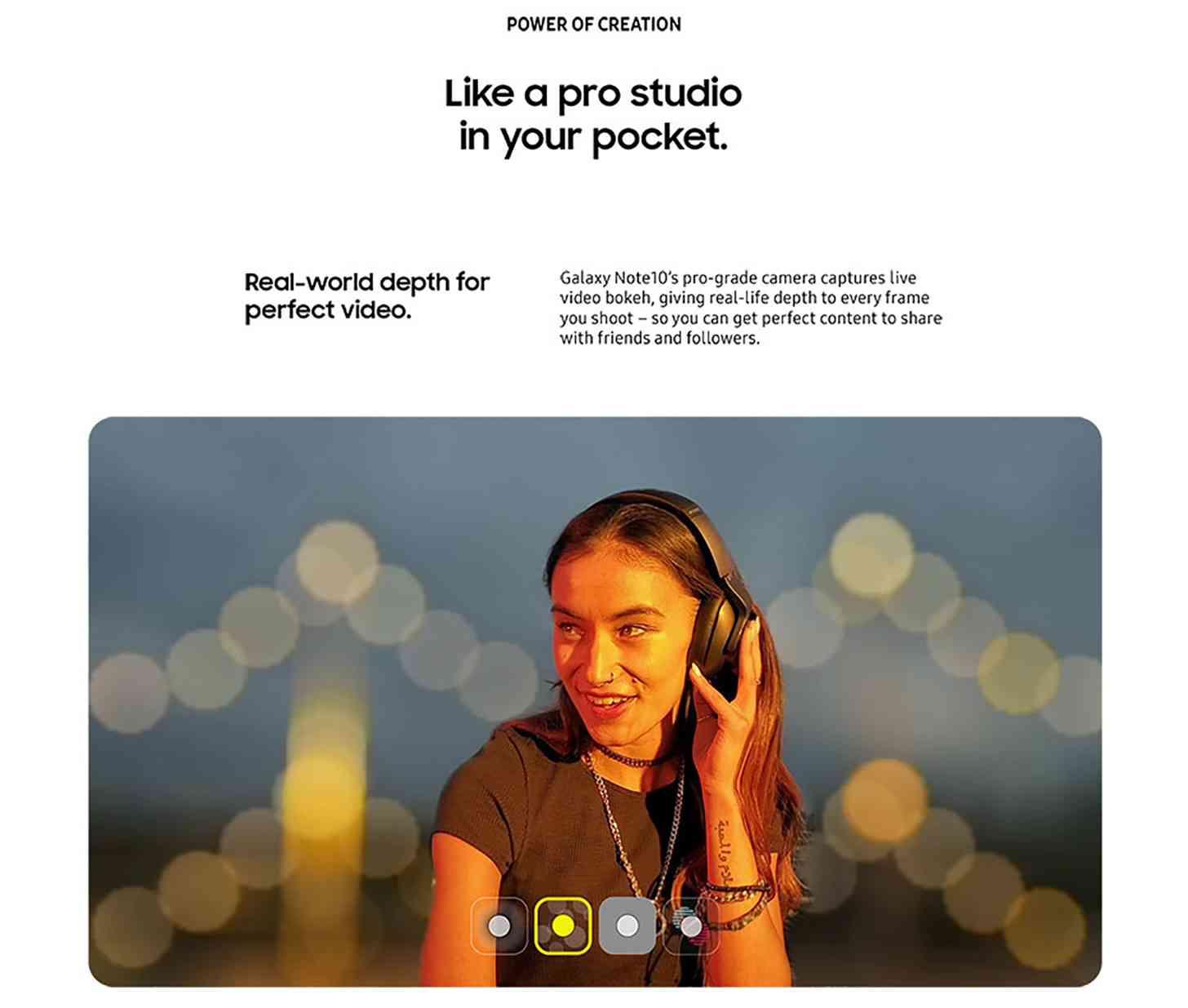 Промо материјал за камера Samsung Galaxy Note 10