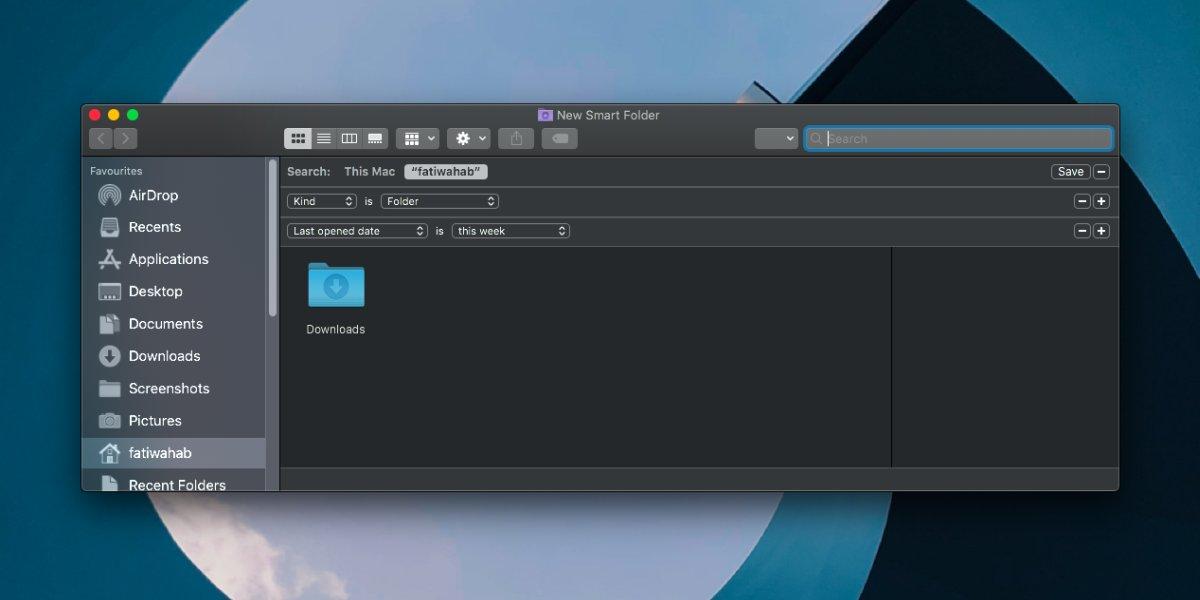 Как добавить последнюю папку на боковую панель Finder в macOS 2
