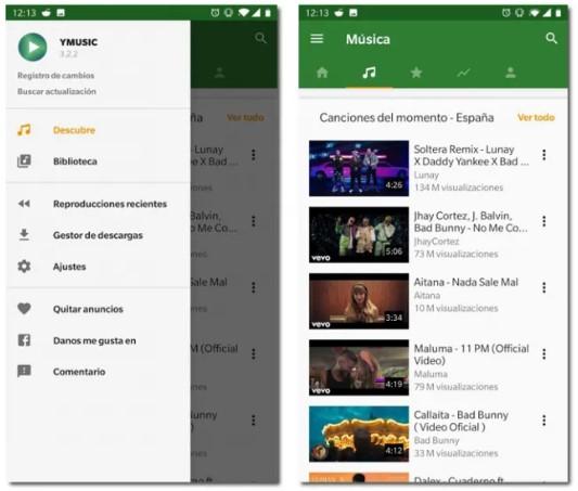 YMusic'in yerini aldığı Android uygulamasını kullanma YouTube