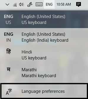 Cómo cambiar el idioma del teclado en Windows 10 4