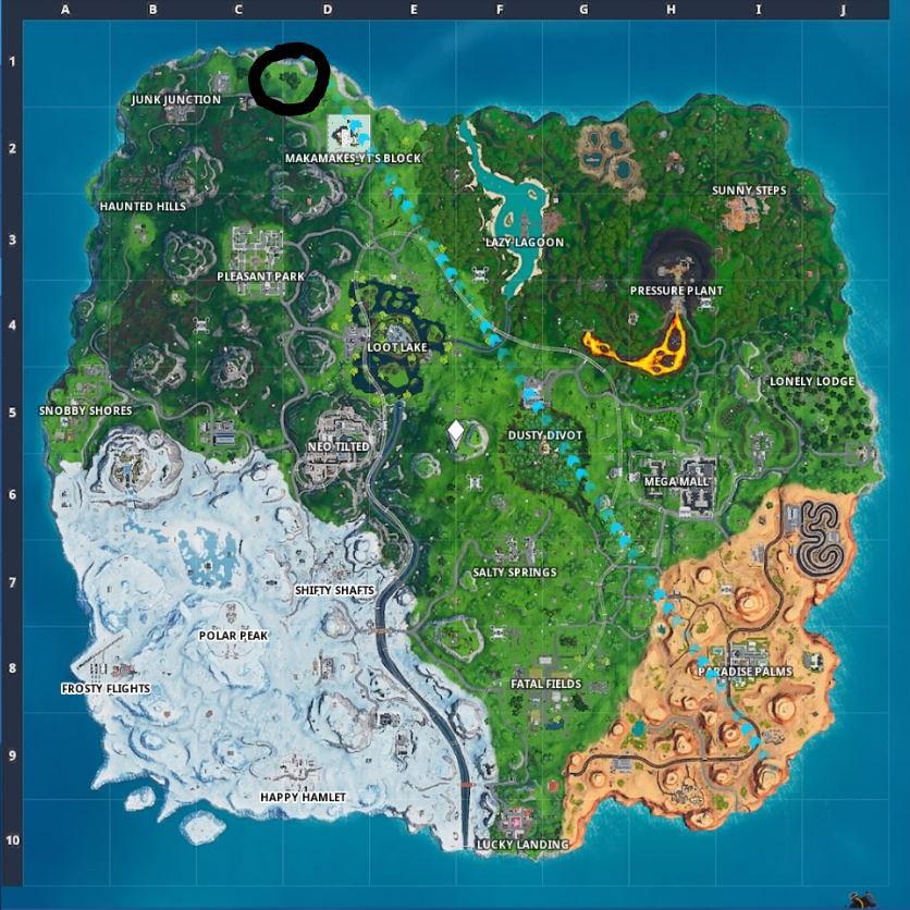 Fortnite: Guía de ubicación de Fortbyte - Cada desafío en un solo lugar 14