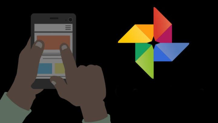 Logotipo de Google Photos con fondo negro
