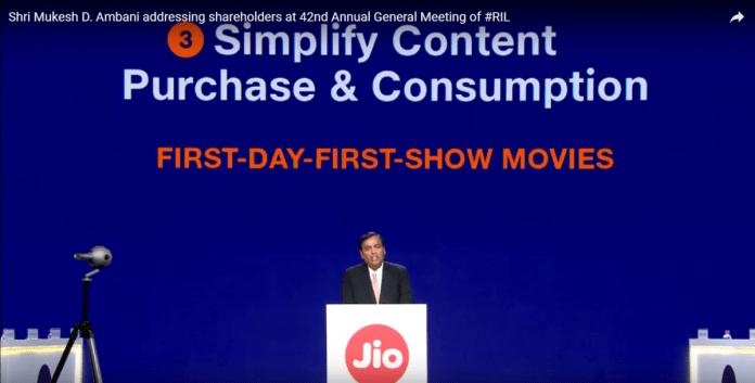 Soriance AGM 2019 highlight - Jio Fibre, Set-Top-Box, headset Jio MR, Jio Postpaid Plus 5