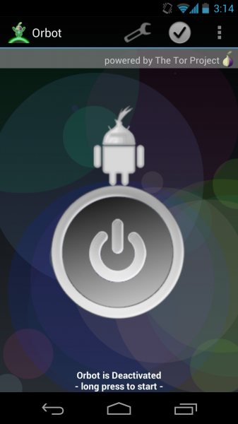 Arreglar Orbot / Tor para Android 4.1 Jelly Bean Device 2