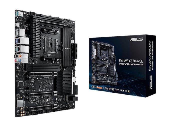 Ulasan ASUS Pro WS X570-Ace: x8x8x8 Tanpa RGB