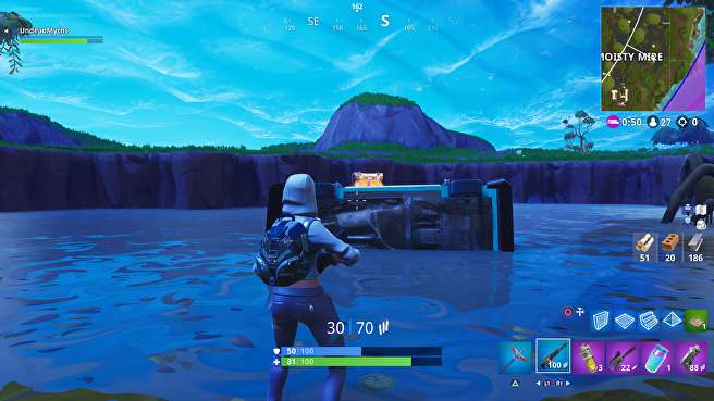 Fortnite    Moist Chest Watch Location - Sunday 9 Chest Search Challenge 5