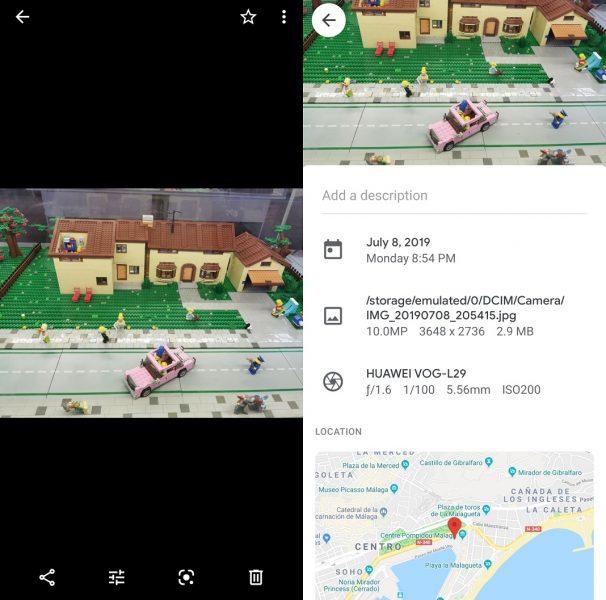 Şəkil məlumatı id Google photos