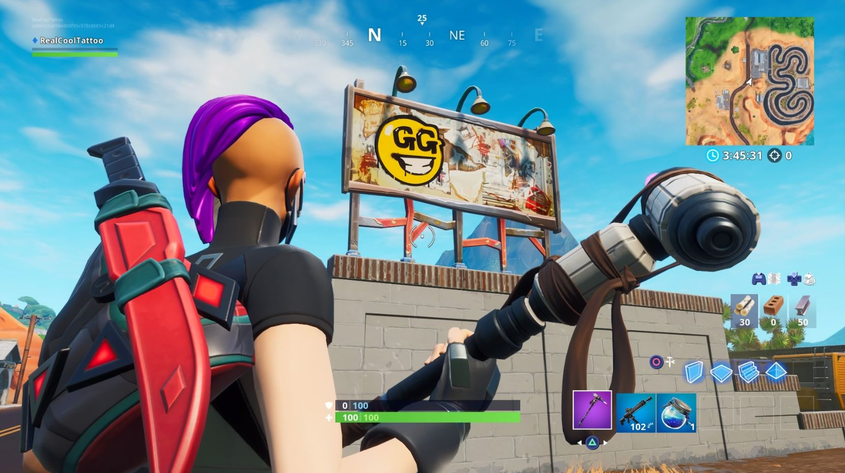 Fortnite: Visita la cartelera que dice Graffiti en un juego 3