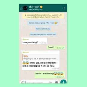 whatsapp оригиналниот разговор