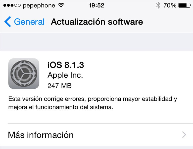 Con iOS 8.1.3 Apple  Bloquee Pangu, TaiG y PP Jailbreak en iPhone y iPad 3