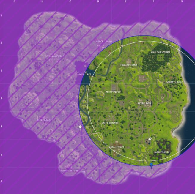 Fortnite  Ojo de the Storm Challenge - Cómo visitar un centro diferente de Storm Circle 2