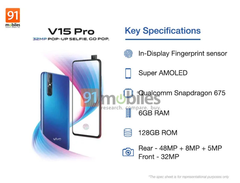 """Vivo    Mavi V15 Pro rəsmi elandan əvvəl fotoda görünür. 3""""width ="""" 1440 """"height ="""" 1100"""