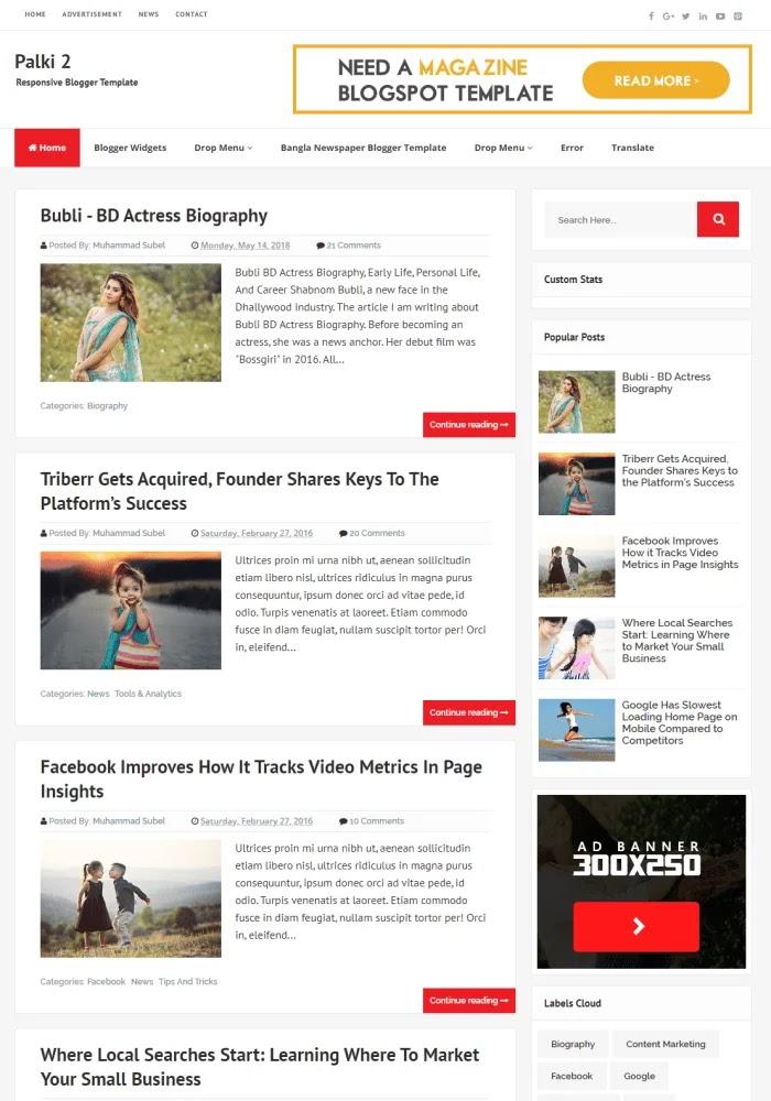 Palki 2 Template Blogger Responsif Gratis Terbaik