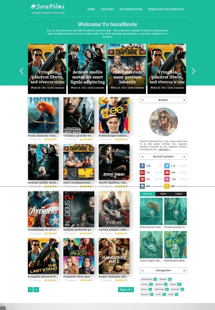 SoraFilms Template Blogger Gratis Responsif Terbaik