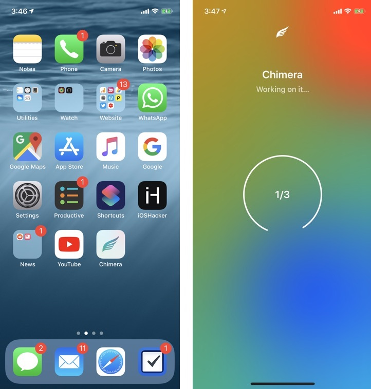 Jailbreak Chimera para iOS 12.4