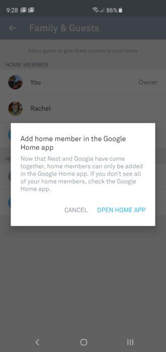 Google indi hər hansı bir ailə üzvünün öz Nest hesabından silməsinə icazə verəcəkdir 2
