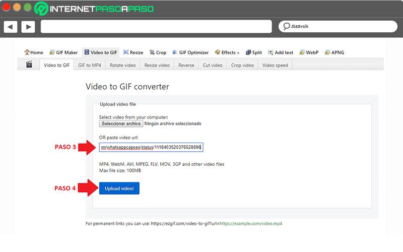 Na stiahnutie GIF použite webovú stránku EZGIF
