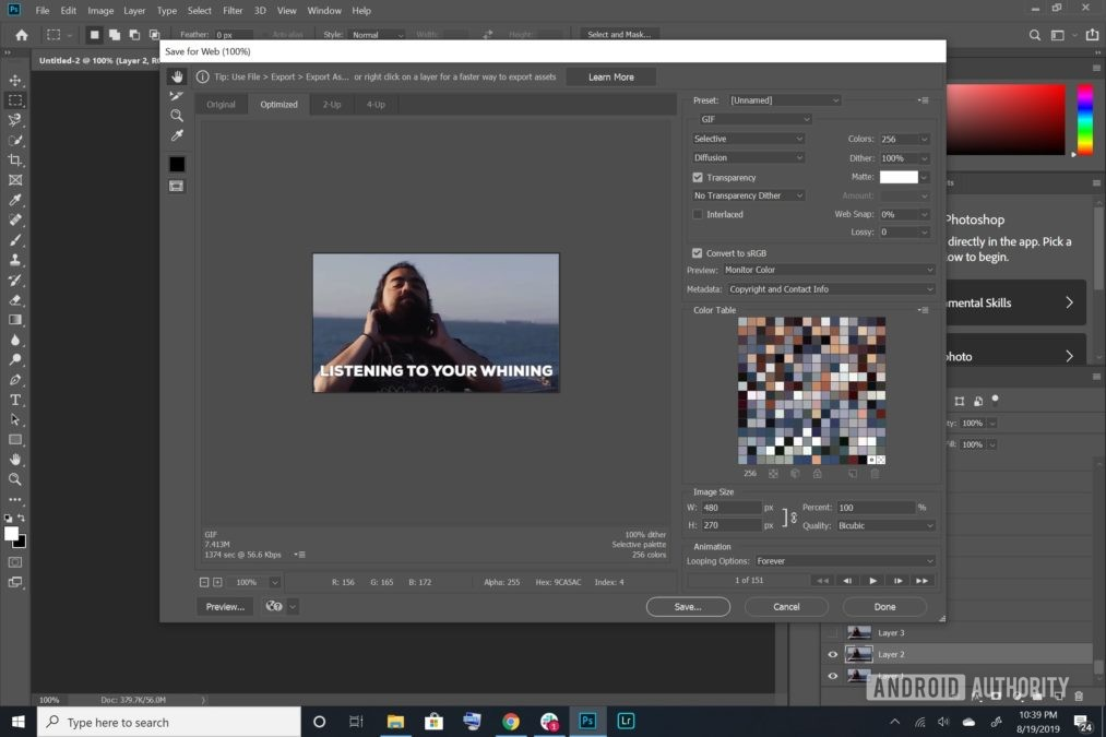 Buat GIF menggunakan Photoshop